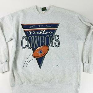 Vintage Dallas Cowboys Men's XL Gray Sweatshirt